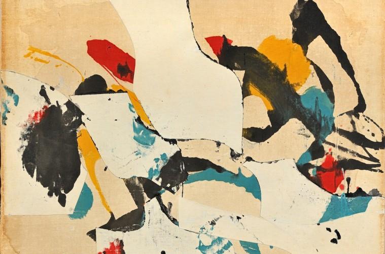 Conrad Marca Relli, F-S-15-59-1959, collage and mixed media on canvas 66.3x 86.5cm. Courtesy Galleria Open Art