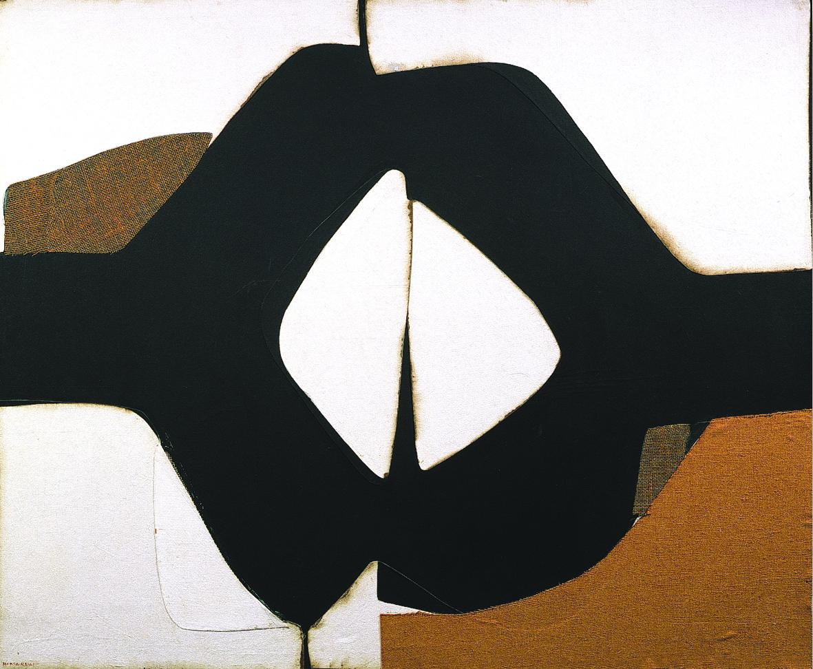 Conrad Marca Relli, L-9-74, 1974, collage and mixed media on canvas, 1524x1829, cm. Courtesy Galleria Open Art