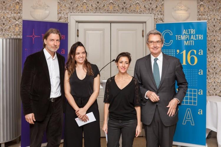 Premiazione Quadriennale 16, Carlo Bach, Adelita Husni-Bey, Rossella Biscotti, Franco Bernabè Foto OKNOstudio