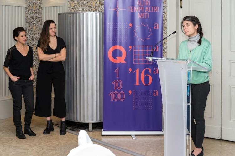 Premiazione Quadriennale 16, Rossella Biscotti, Adelita Husni-Bet, Alek. O Foto OKNOstudio