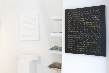 """Alfredo Rapetti Mogol, veduta della mostra """"Diario 99-016"""", Giuseppe Veniero Project, Palermo"""
