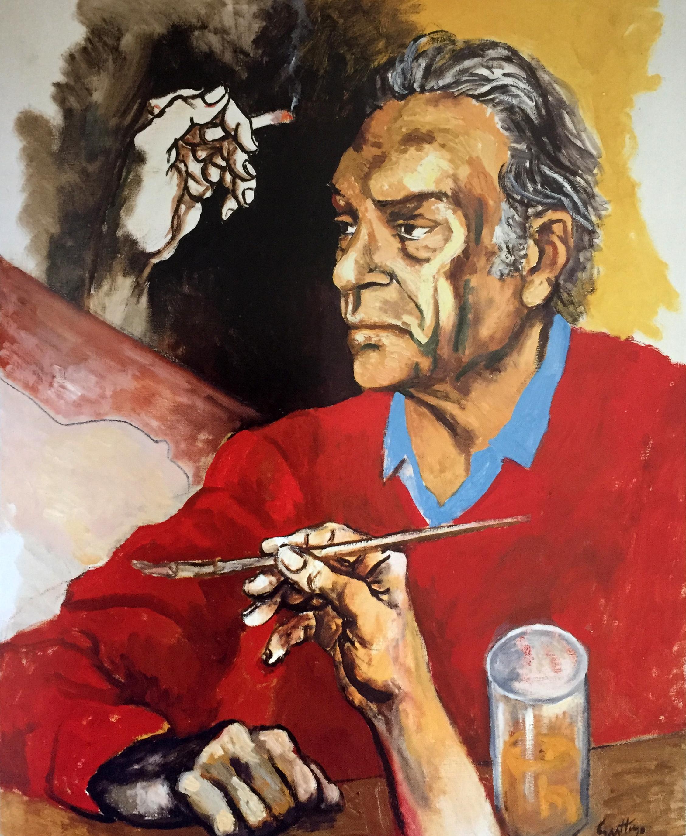 Renato Guttuso, Autoritratto, 1975, Archivi Guttuso, Roma