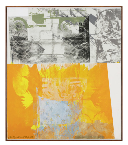 Razzle Down (Salvage), 1984 Courtesy Robert Rauschenberg Foundation and Galerie Thaddaeus Ropac, Paris/Salzburg © Robert Rauschenberg Foundation/ADAGP, Paris 2016