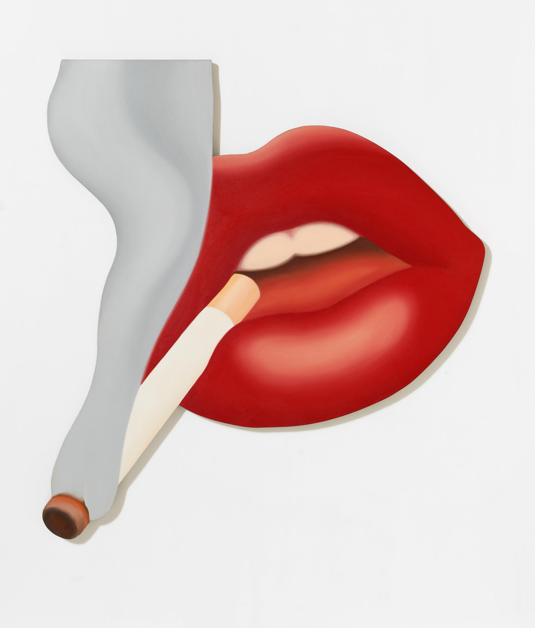 Tom Wesselmann, Smoker #3 (Mouth #17)', 1968 Courtesy of The Estate of Tom Wesselmann and Almine Rech Gallery