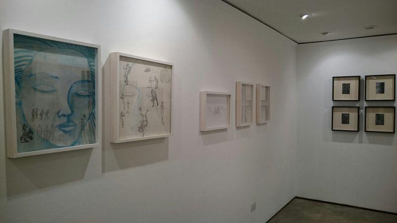 """Veduta della mostra Filippo Farneti """"Altrove"""", Galleria niArt, Ravenna"""