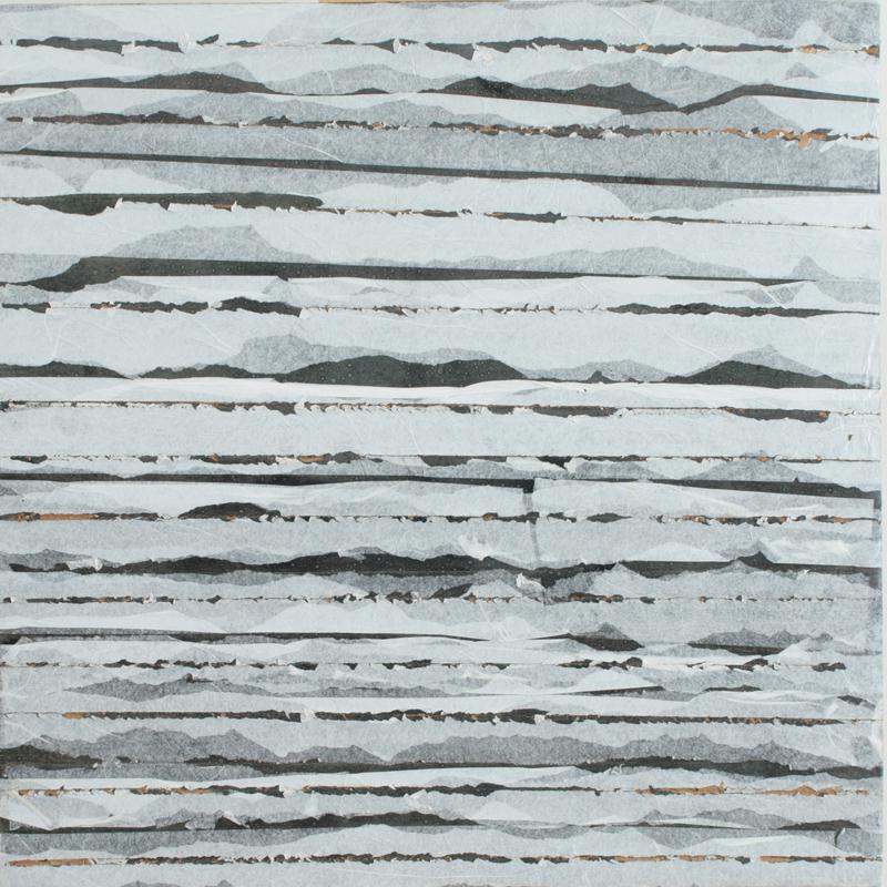 Paolo Masi, 1976, Senza titolo, tecnica mista su cartone da imballaggio, cm 100x100. Ph. Claudia Cataldi, Prato. courtesy Frittelli Arte Contemporanea, Firenze