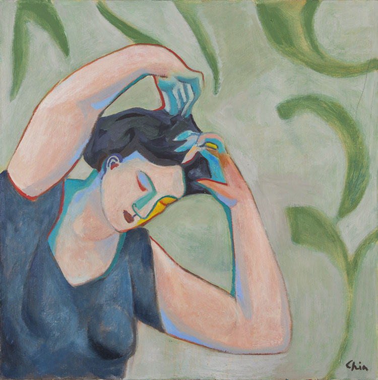 Sandro Chia, Senza titolo, 2003, cm 110x110