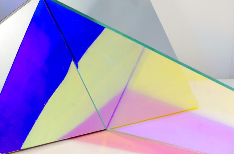 Matteo Negri, Piano Piano (dettaglio), 2016, 165x260x230, ferro, cromo liquido e vetro