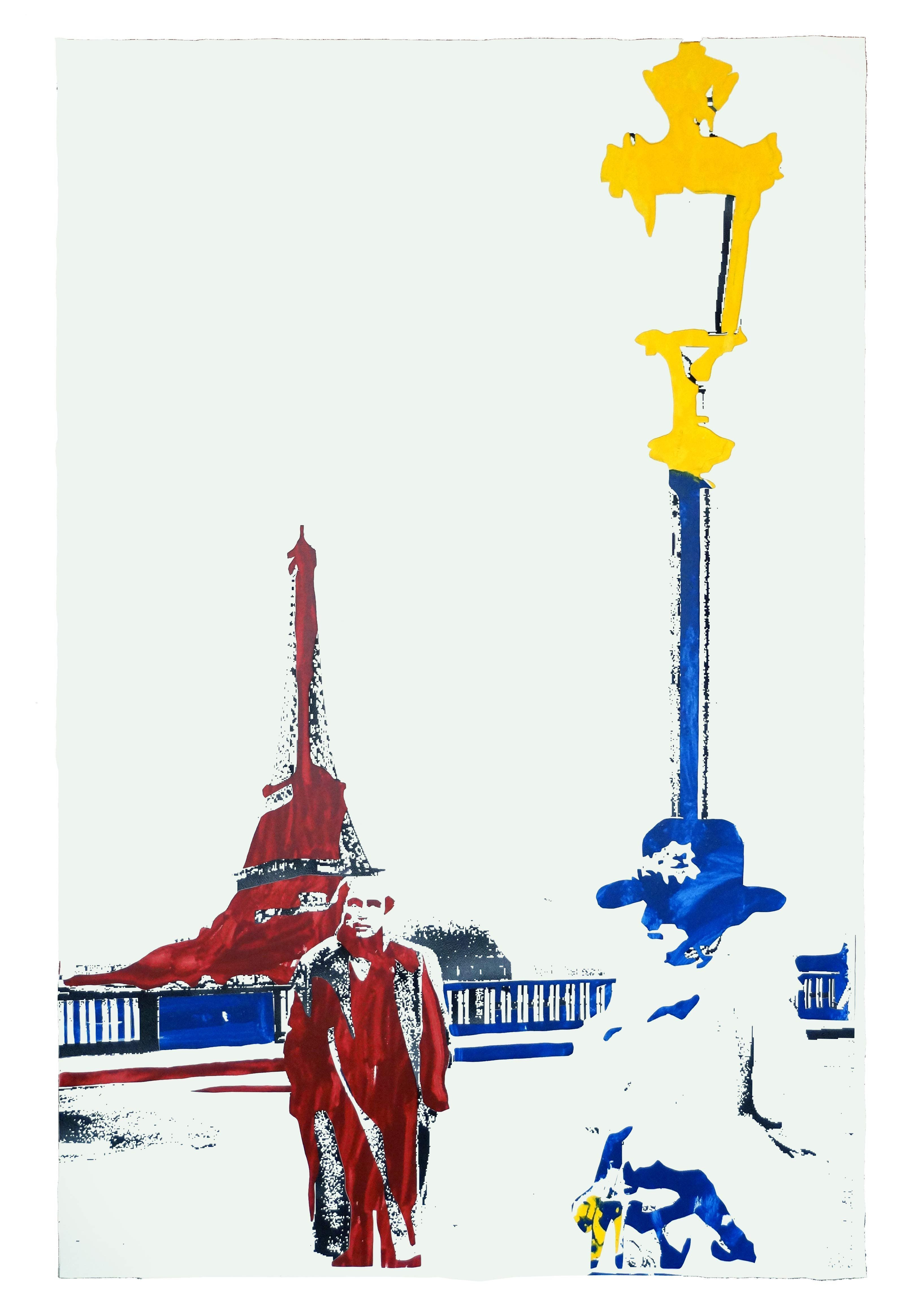 Manifesti - Ultimo tango a Parigi - tecn. mista su tela 170x130 - 2016