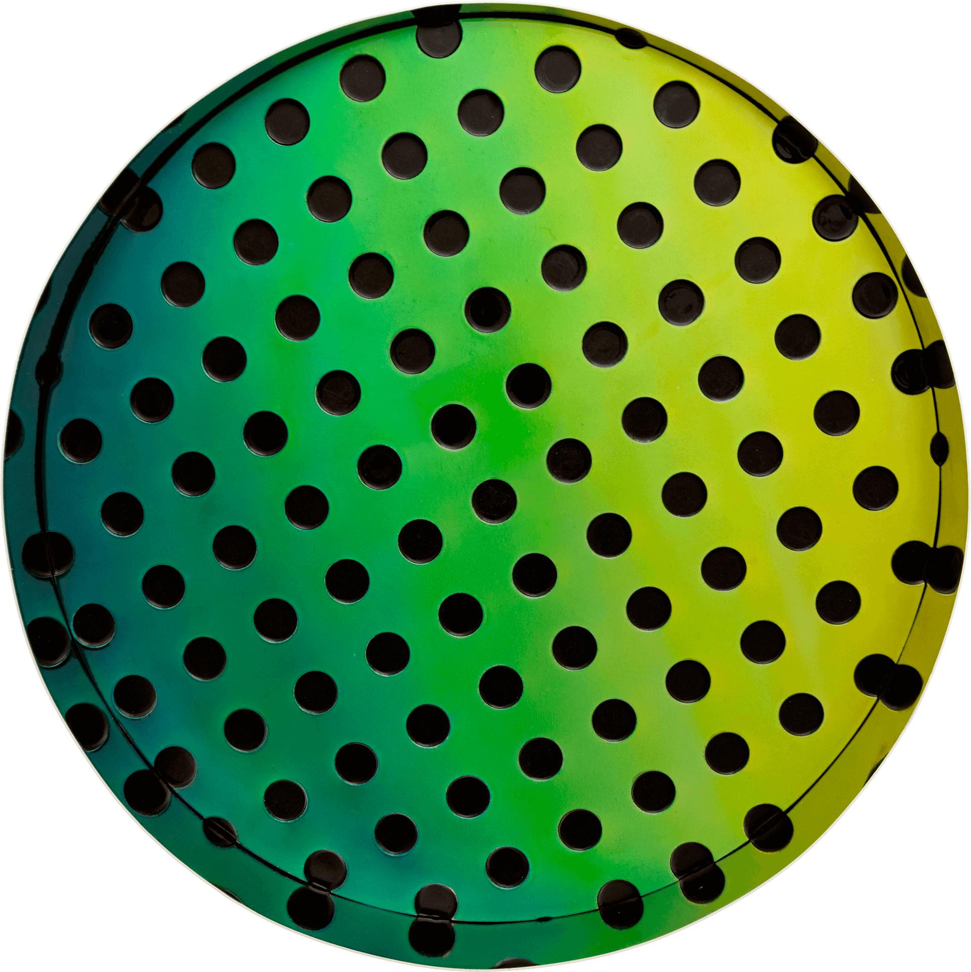 Matteo Negri, Kamigami Green Bubble, 2016, tecnica mista su legno, acciaio cromato e verniciato, 80 x 80 x 20 cm -9146-front