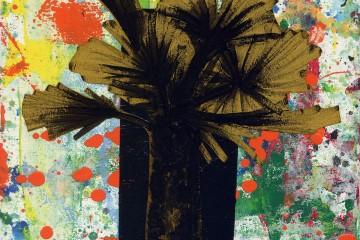 Michael Rotondi, Still life, 2014, smalto, acrilico e carta su tela, 20x20 cm