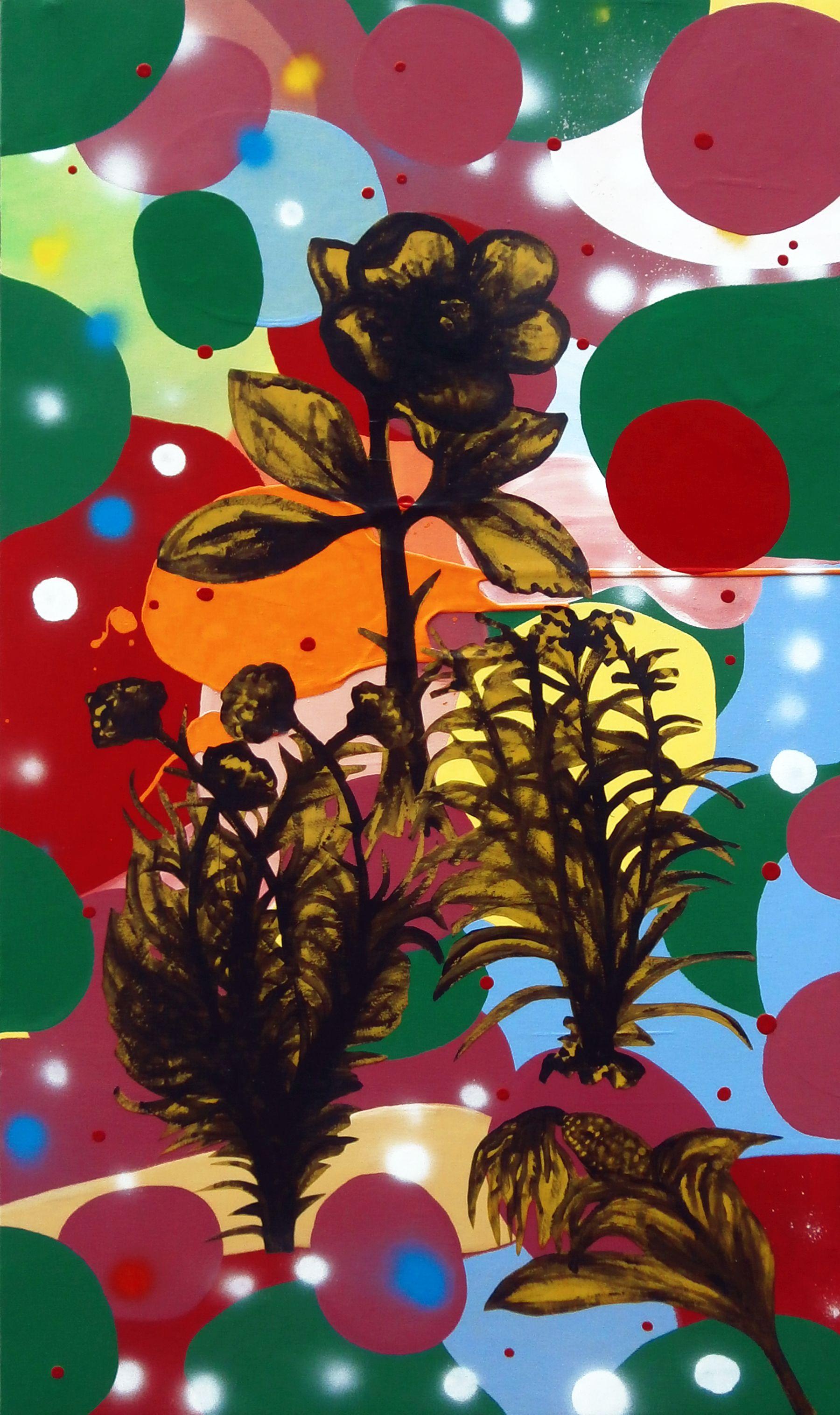 Michael Rotondi, Still life, 2015, tecnica mista su tela, 110x66 cm