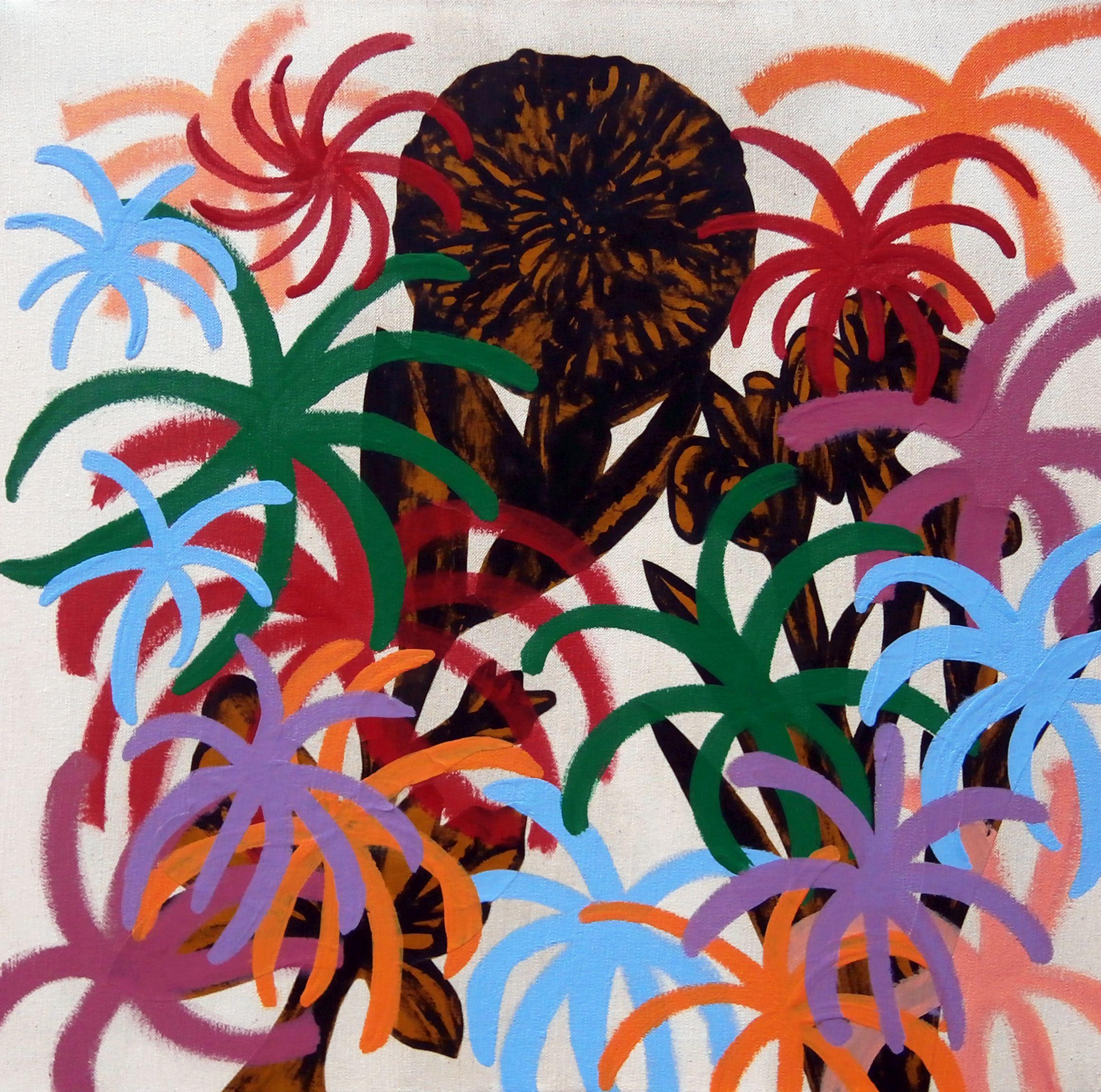 Michael Rotondi, Still Life, 2016, tecnica mista su tela, 50x50 cm
