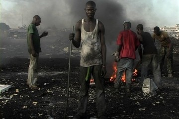 Pieter Hugo, Permanent Error, 2010, video installation with 10 monitors, MAST Collection Courtesy of the artist and Priska Pasquer Gallery, Cologne