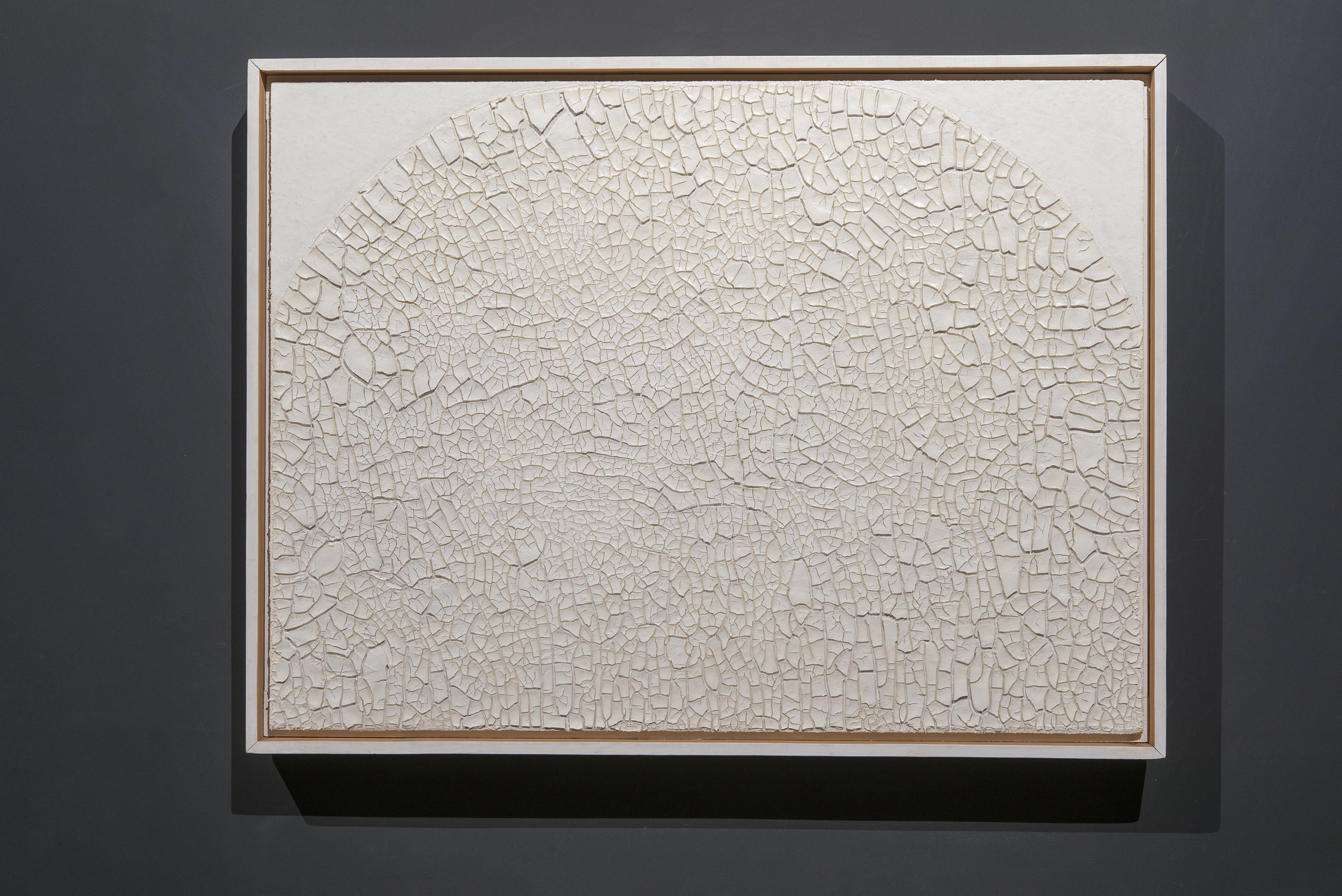 Alberto Burri, Cretto, 1974, Acrovinilico su cellotex, cm 76,5 x 101, Fondazione Palazzo Albizzini Collezione Burri