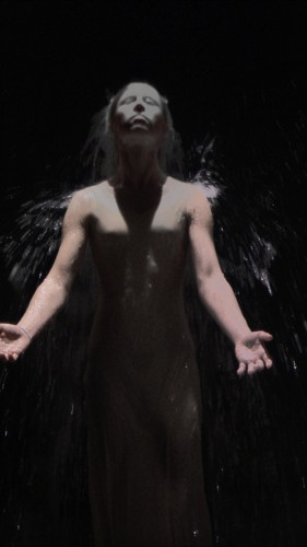 Bill Viola, The Innocents, 2007, color High-Definition video, diptych, Performers Anika Ballent ans Andrei Viola Photo Kira Perov
