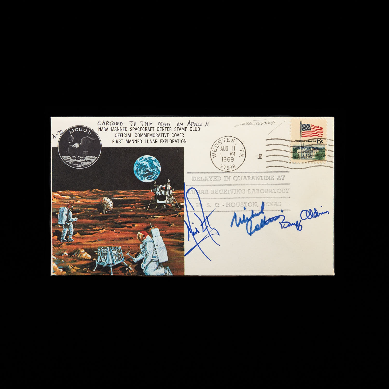 Cosmogramma trasportato sull'Apollo 11 con autografi di Armstrong, Collins, Aldrin_1969_Archivio Storico Bolaffi