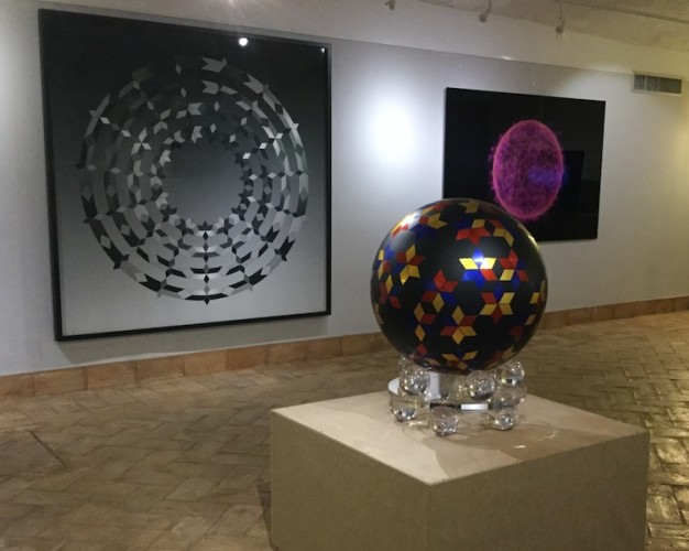 Jens W. Beyrich. Hypersymmetrics, veduta della mostra, Spazio Gallerie - Chiostro del Bramante, Roma