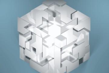 Jens W. Beyrich, The city state, 2014, puzzle tridimensionale numerico, C-print, 125x180 cm