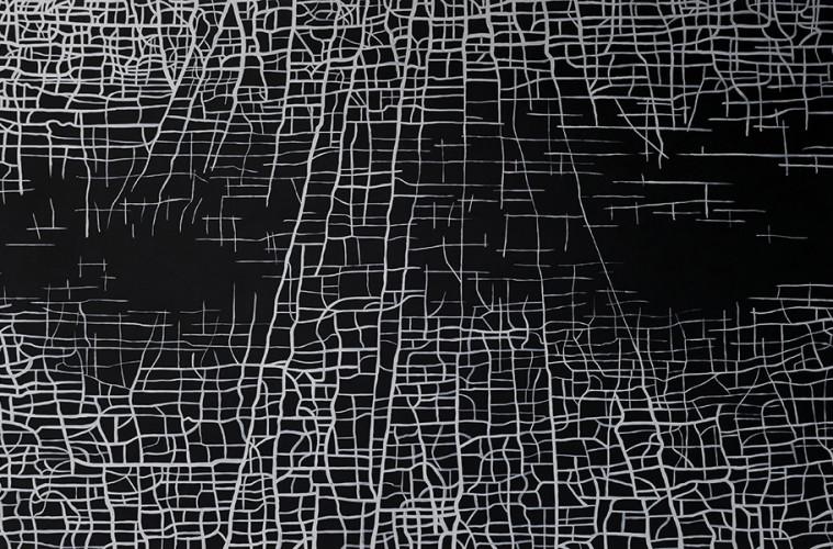 Massimiliano Galliani, Le Strade Del Tempo, 2012, acrilico su tela, cm 280 x 420