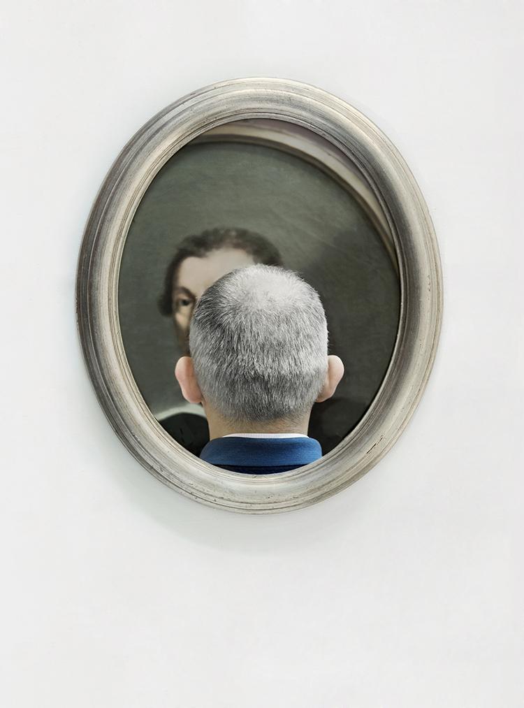 © Mario Cresci, Dalla serie Vedere attraverso, Pinacoteca Nazionale di Bologna, 2010, stampa giclée, ⦰ cm 49