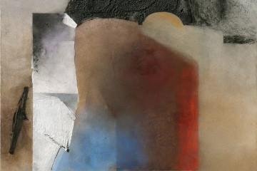 Giuseppe Santomaso, BIANCO PIETRA D'ISTRIA, 1988, cm 162x130
