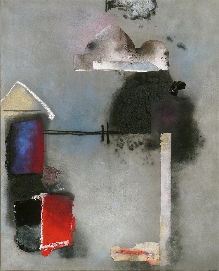 Giuseppe Santomaso, RICORDO DI VIAGGIO, 1985, cm 162x130