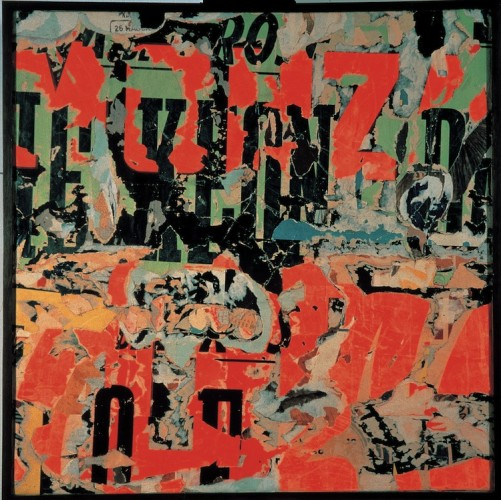 Mimmo Rotella, A pettine, 1959