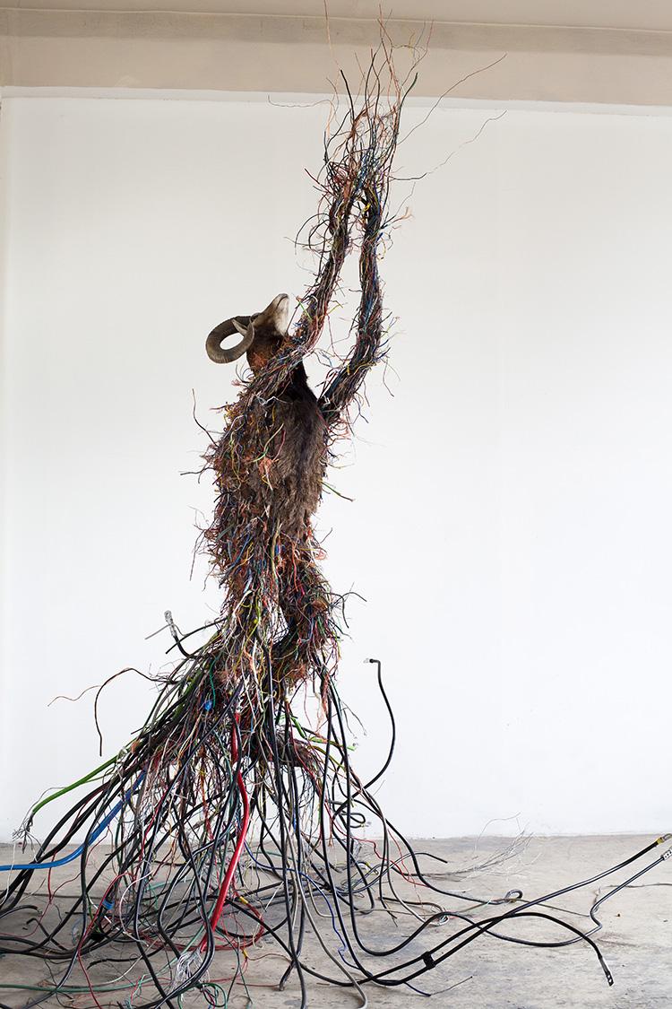 Krištof Kintera, Electrons Seeking Spirit, 2016, mixed media, 395 x 420 x 420 cm. Courtesy and © Krištof Kintera. Ph. C. Archive of the artist