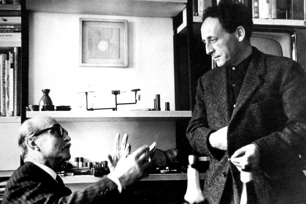 Lucio Fontana e Leoncillo (Biblioteca comunale Carducci di Spoleto - Fondo Leoncillo)