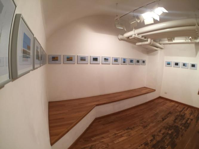 Patrizia Novello. Geografia, veduta della mostra, Project Room, Nuova Galleria Morone, Milano