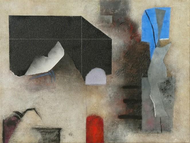 Giuseppe Santomaso, Rosso Nero Azzurro, 1985, 97x130 cm