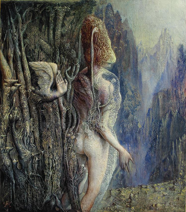 Agostino Arrivabene, Senza Titolo, 2016-2017, olio su tavola, cm 43×38