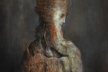 Agostino Arrivabene, Senza titolo, 2016, olio su legno, cm 70×50