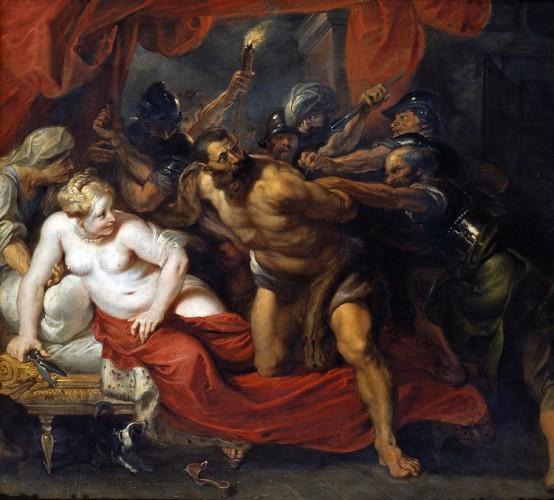 Pietro Paolo Rubens, Cattura di Sansone, 1614-20, olio su tela, 118x132 cm, Monaco, Alte Pinakothek, Bayerische Staatsgemäldesammlungen