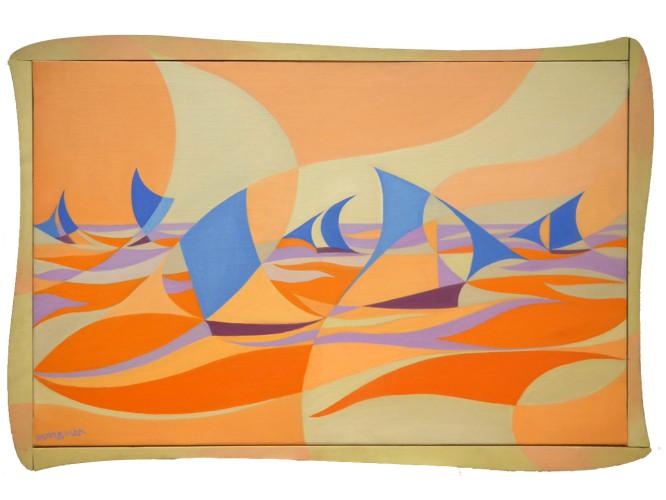 Giacomo Balla (1871–1958) Linee-Forza di Mare Casa Balla (1919) Oil on canvas 65 x 100 cm Courtesy Mazzoleni