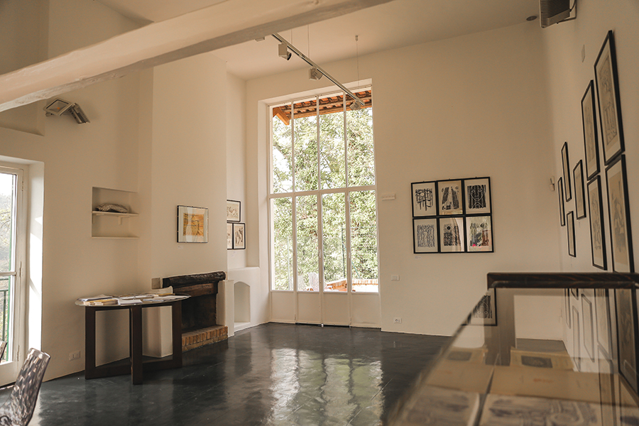 Veduta interna dello Studio Casorati a Pavarolo