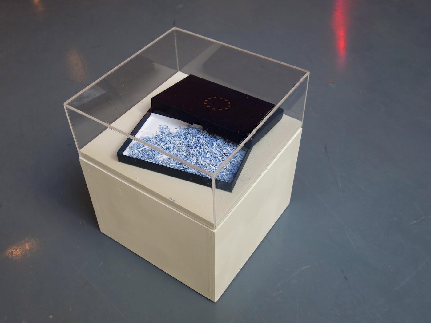 Lapo Simeoni, veduta della mostra, Brexit, Things left unsaid, Museo Albornoz, Narni