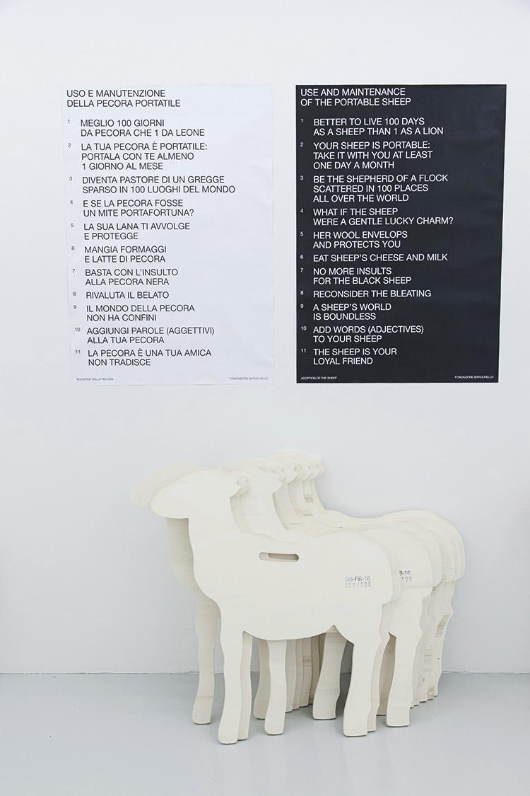 Veduta di Start up. Quattro agenzie per la produzione del possibile, Fondazione Baruchello, Roma. Foto Federico Tribbioli