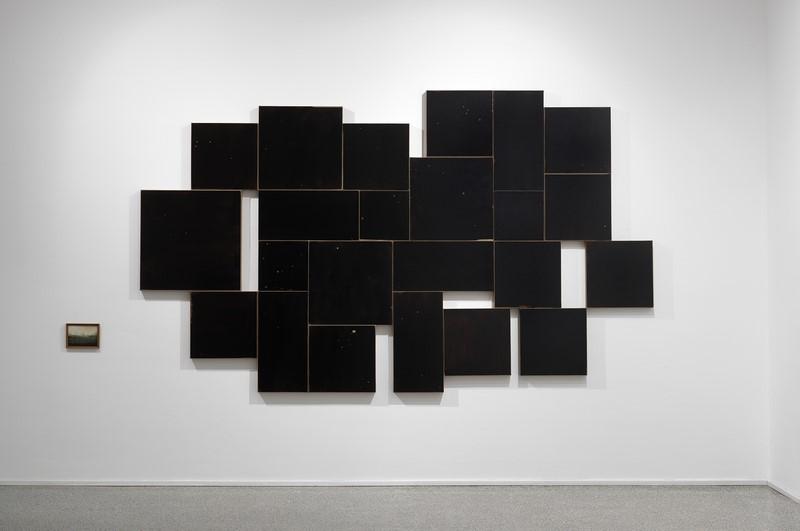 Mirko Baricchi, Germogli. E di stelle, 2012, tecnica mista su tela, cm 180x340, foto Dario Lasagni