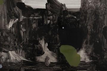 Mirko Baricchi, Pangea #18, 2017, tecnica mista su tela, cm 50x60