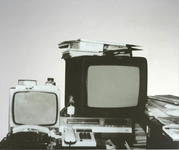 Michelangelo Pistoletto (b.1933) Television (1962 – 1983) Silkscreen on stainless steel 100 x 120 cm Courtesy Mazzoleni