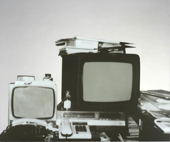 Michelangelo Pistoletto (b.1933) Television (1962 – 1983) Silkscreen on stainless steel 100 x 120 cm Courtesy Mazzoleni