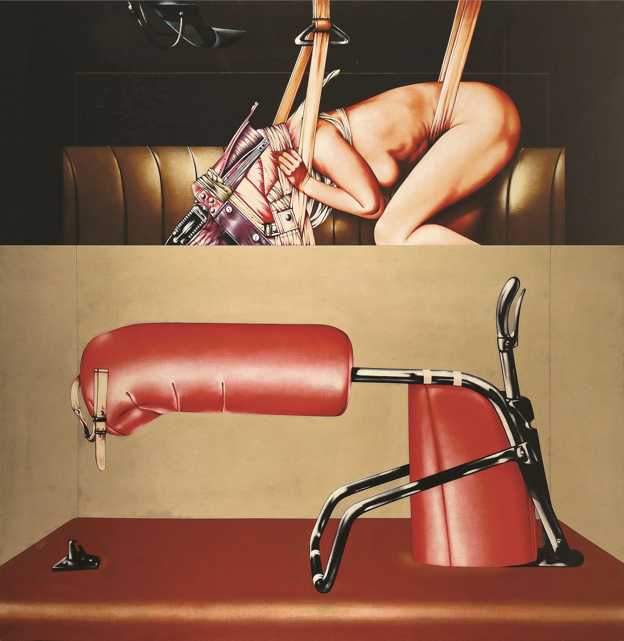 Sergio Sarri, Camera di contenzione n° 1, 1971-72, acrilico su tela, 200x200cm