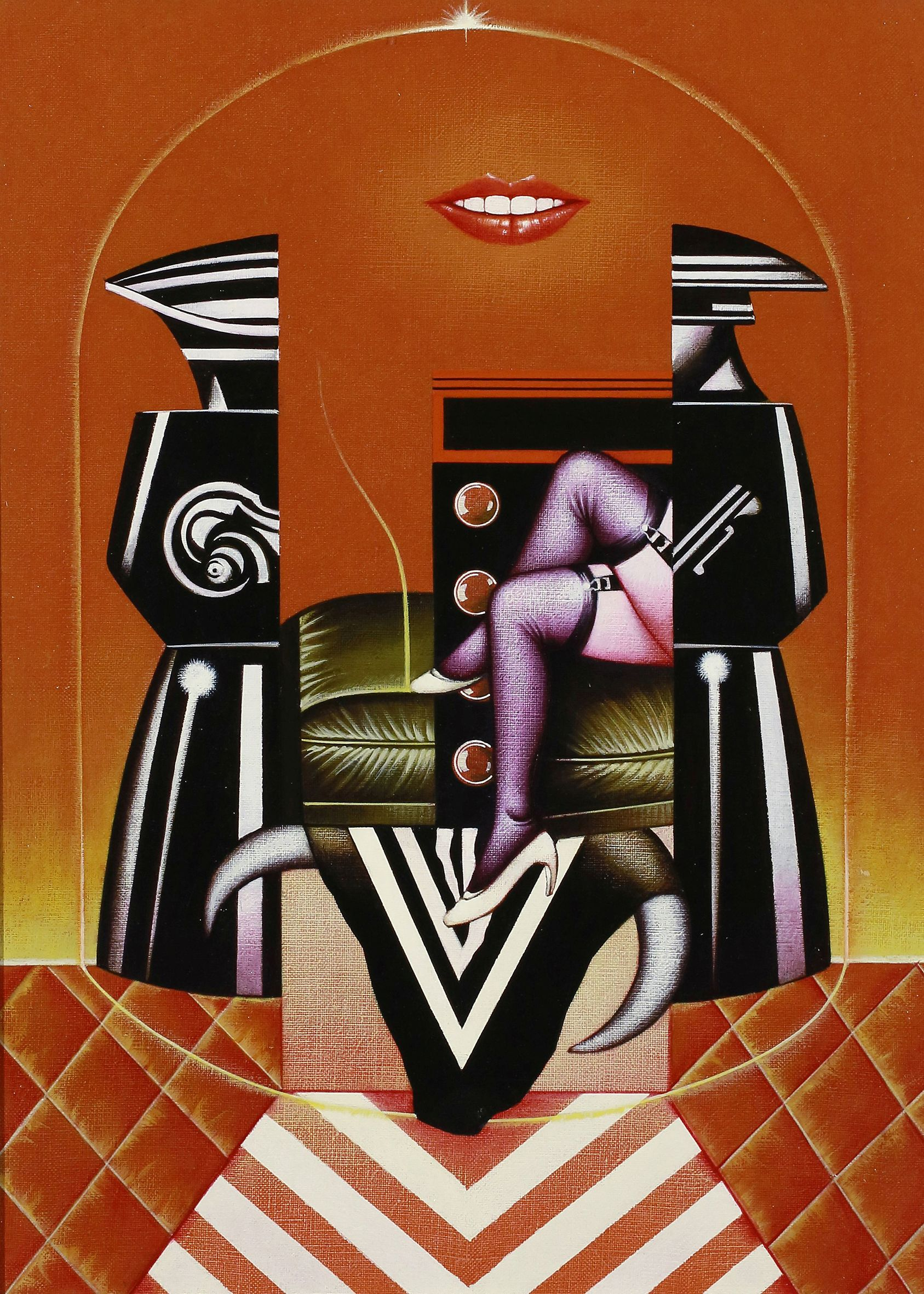 Sergio Sarri, Studio per Belle de Jour (omaggio a Bunuel), 1985, acrilico su tela, 55x40 cm
