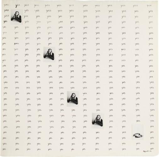 Vincenzo Agnetti, Autotelefonata, 1974, tecnica mista su carta, 56.5x56.5 cm