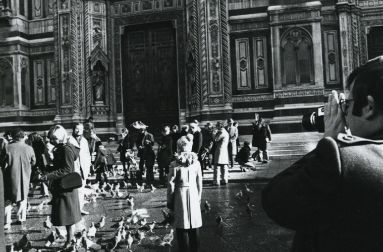 Bill Viola in piazza Duomo a Firenze 1974
