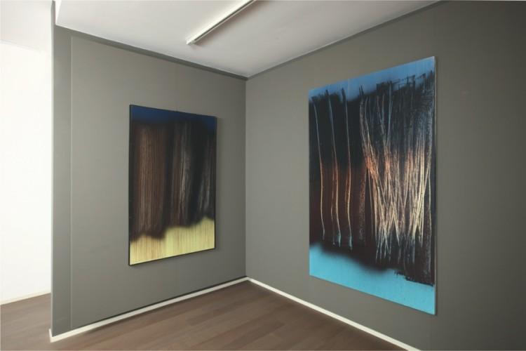 Hans Hartung, veduta della mostra, Dellupi Arte, Milano