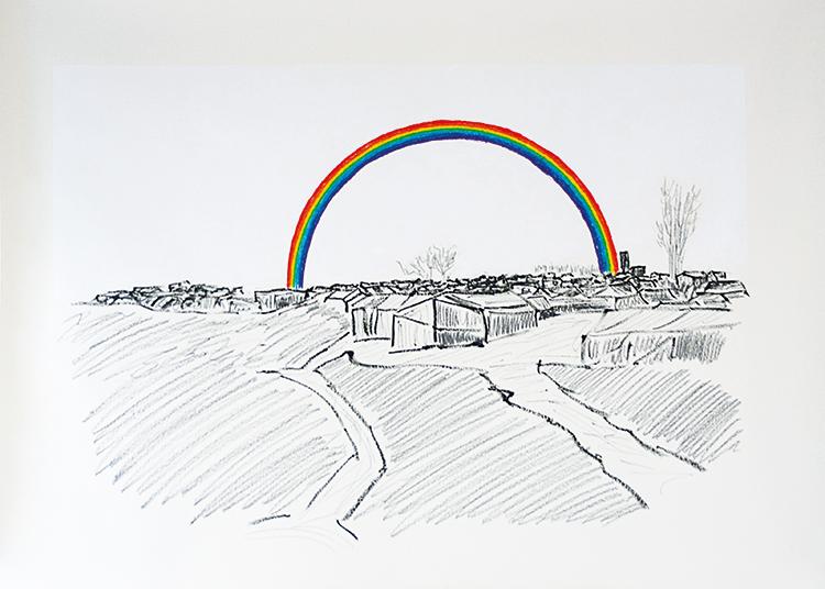 Gian Maria Tosatti Histoire et destin - New Man's Land (Rainbow), 2016. Foto: Roberto Marossi. Courtesy: Galleria Lia Rumma, Milano/Napoli