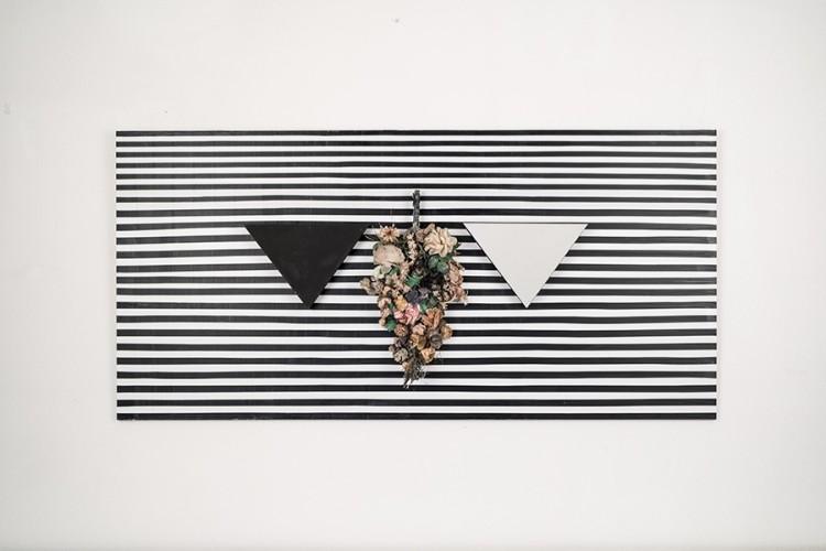 Albano Morandi, Processo di pensiero visualizzato, con un'opera di Blinky Palermo